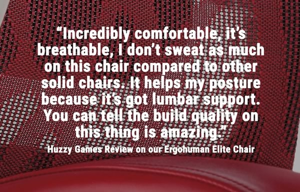 Ergohuman Gaming Chair Review by Huzzy Games