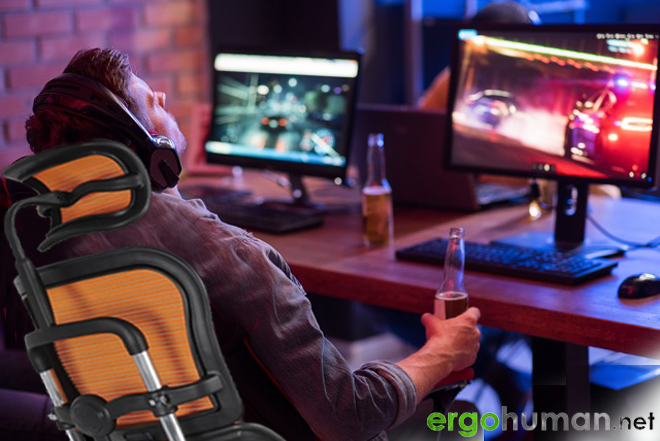 Reclining Gaming Chair - Ergohuman Reclining Office Chair