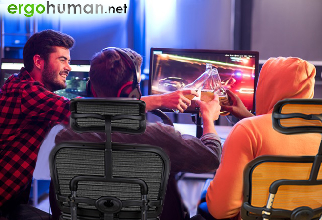 Gamers with Ergohuman Gaming Chairs