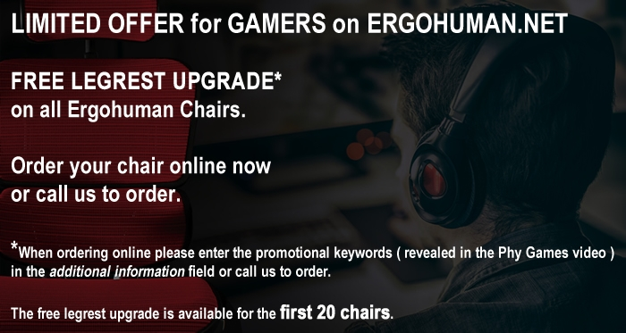 Ergohuman Chair for Gamers - Promotion