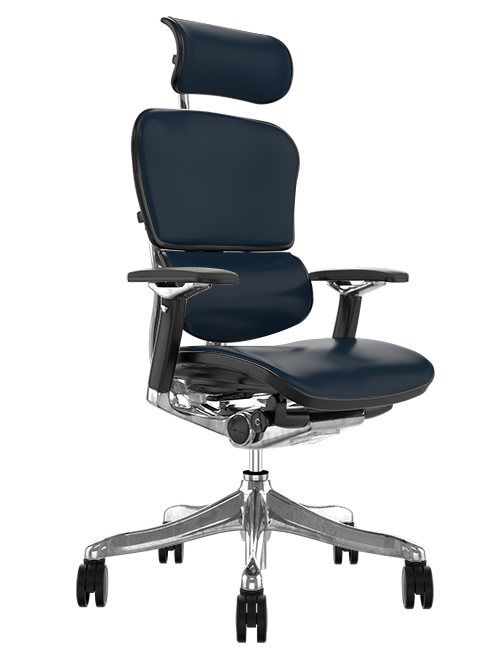 Ergohuman Plus Luxury Black Leather Office Chair