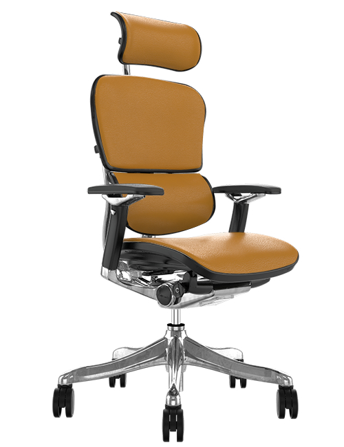 Ergohuman Plus Luxury Latte Leather Office Chair