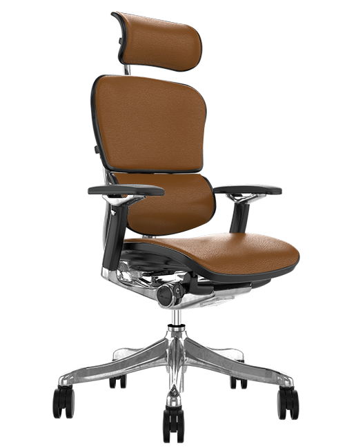 Ergohuman Plus Luxury Tan Saffran Leather Office Chair