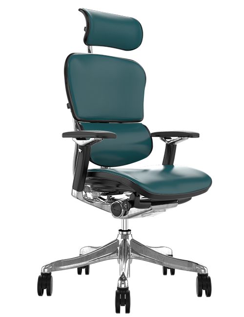 Ergohuman Plus Luxury Teal Leather Office Chair